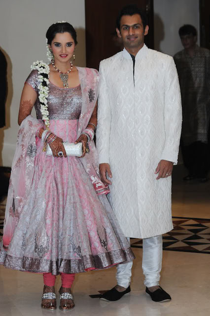 Sania Mirza and her Pakistani cricketer husband Shoaib Malik