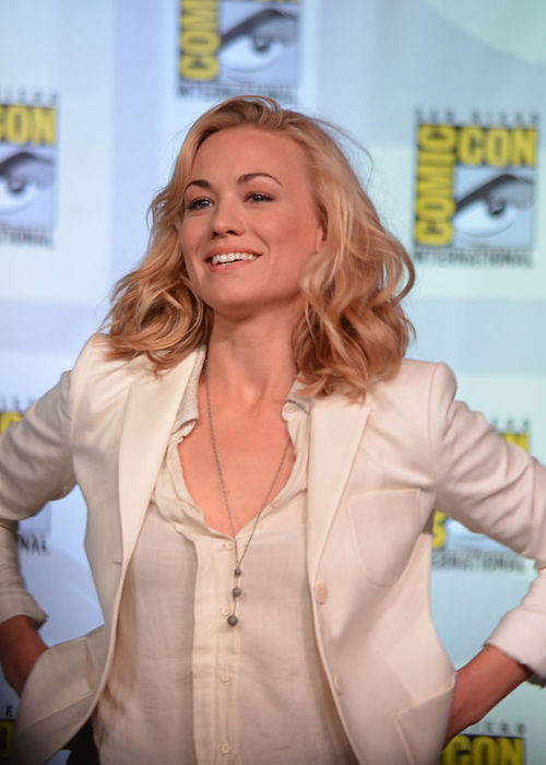 Yvonne Strahovski at the Comic-Con International in 2012