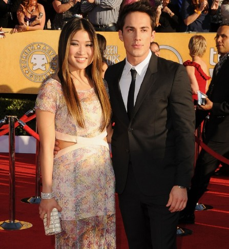 Jenna Ushkowitz and Michael Trevino