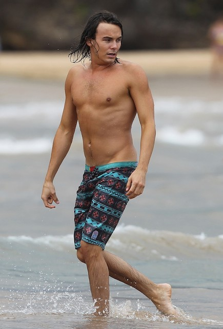 Tyler Blackburn shirtless