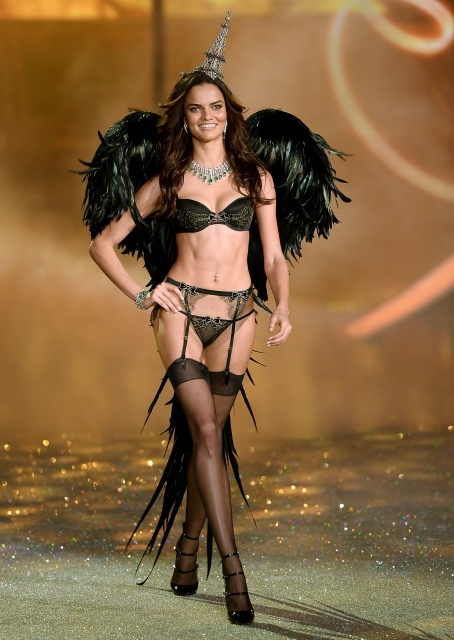 Barbara Fialho during Victoria's Secret Fashion Show 2013