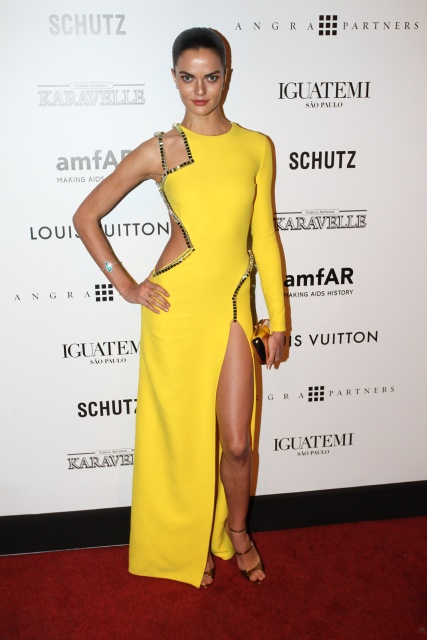 Barbara Fialho during amfAR Gala