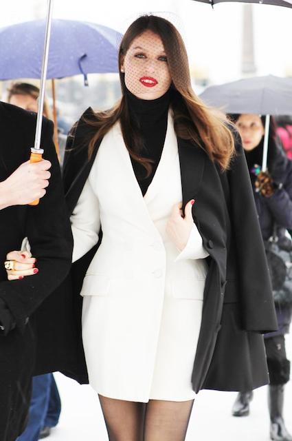 Laetitia Casta during Spring / Summer 2013 Haute Couture Show