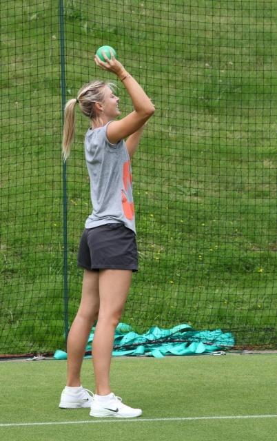 Maria Sharapova workout during Wimbledon