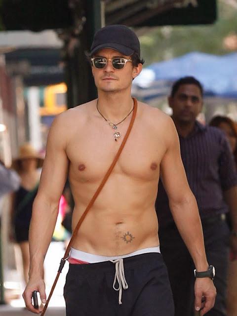 Orlando Bloom shirtless body
