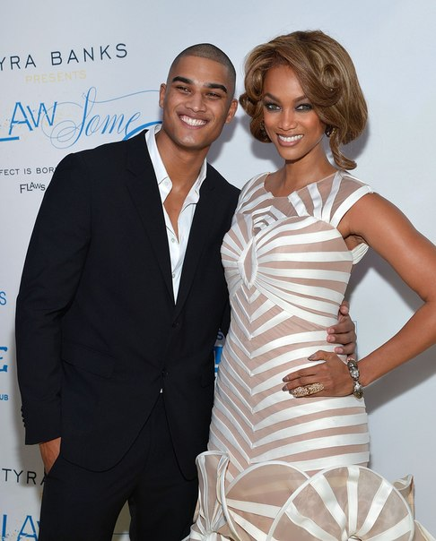 Tyra Banks and Rob Evans