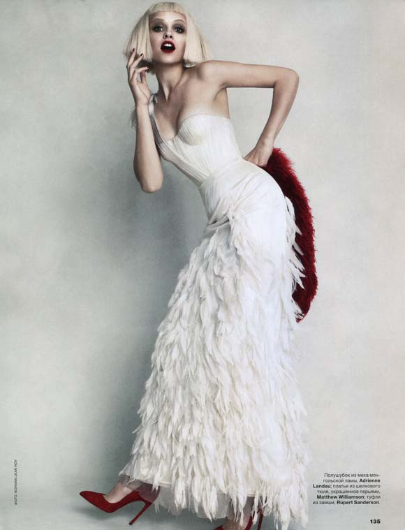 Ginta Lapina in Allure Russia's December 2013 Issue