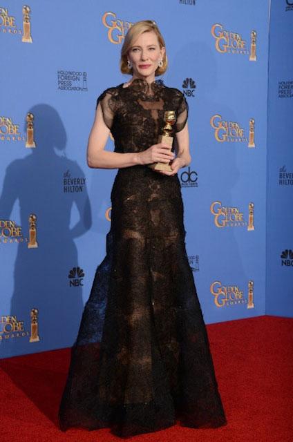 Cate Blanchett during Golden Globes 2014