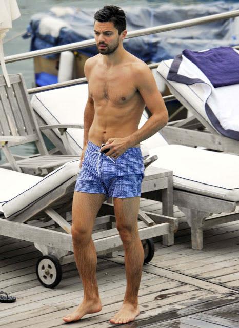 Dominic Cooper shirtless body