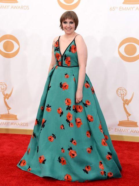 Lena Dunham during Emmy Awards