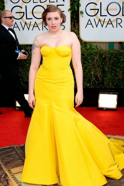 Lena Dunham during Golden Globe Awards 2014
