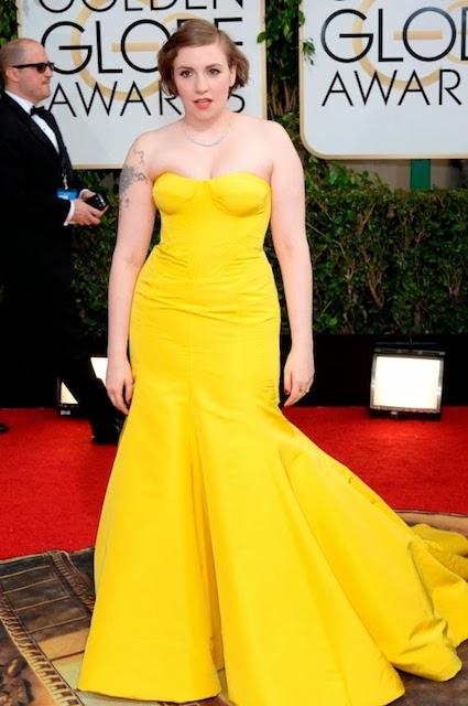 Lena Dunham during Golden Globe Awards 2014