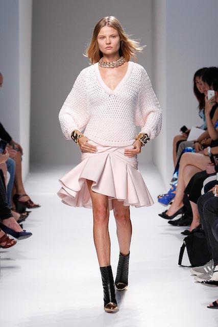 Magdalena Frackowiak during Balmain Spring 2014 Fashion Week