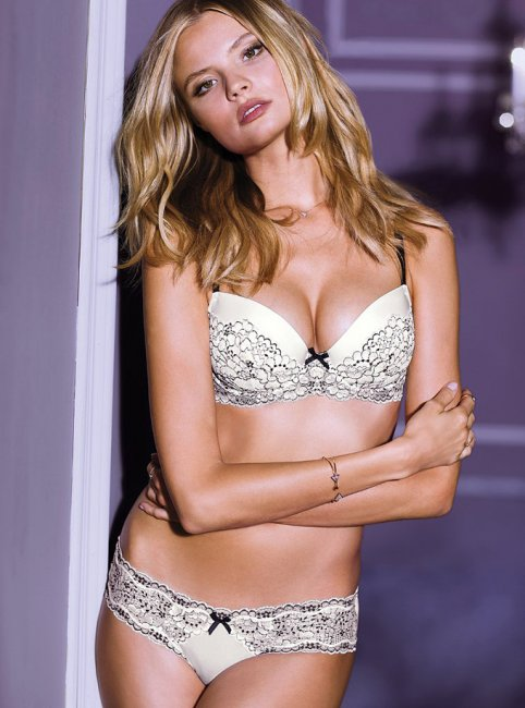 Magdalena Frackowiak during Victoria's Secret Photo Shoot