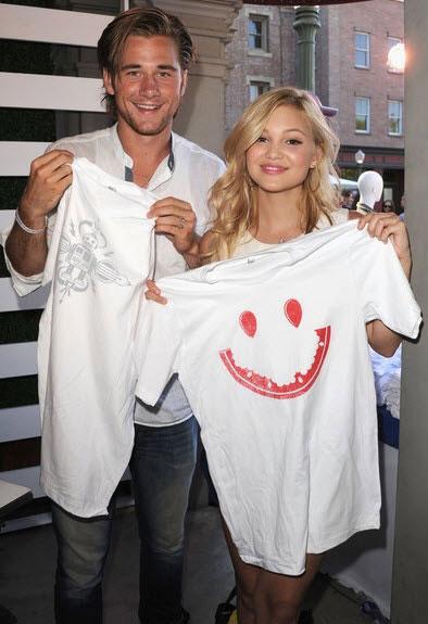 Olivia Holt and her boyfriend Luke Benward