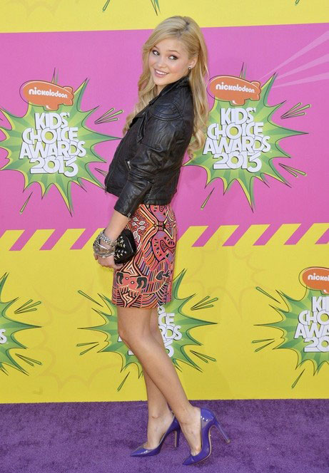 Olivia Holt during Nickelodeon's Kids Choice Awards 2013
