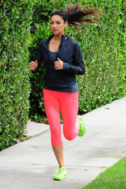 Shay Mitchell morning workout in Santa Monica