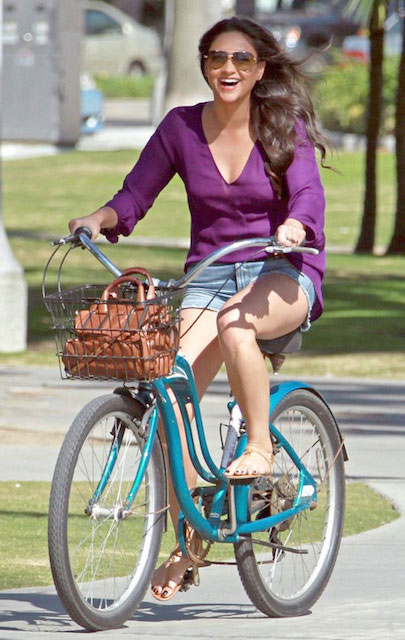 Shay Mitchell cycling