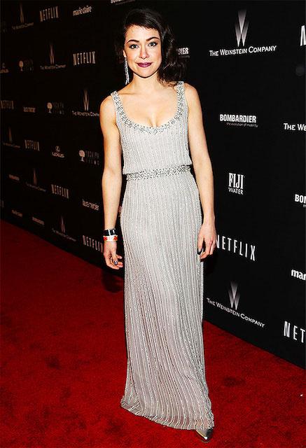 Tatiana Maslany during Golden Globe Awards 2014