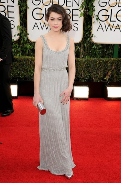 Tatiana Maslany during Golden Globe Awards 2014