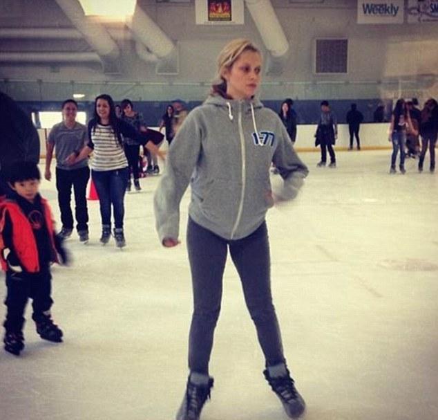 Teresa Palmer skating