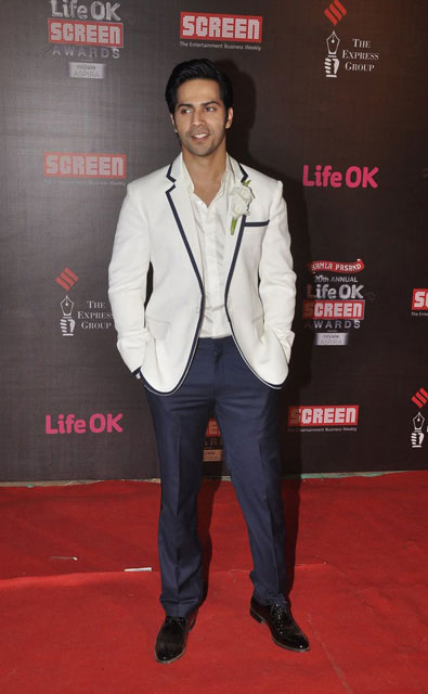 Varun Dhawan during Screen Awards 2014