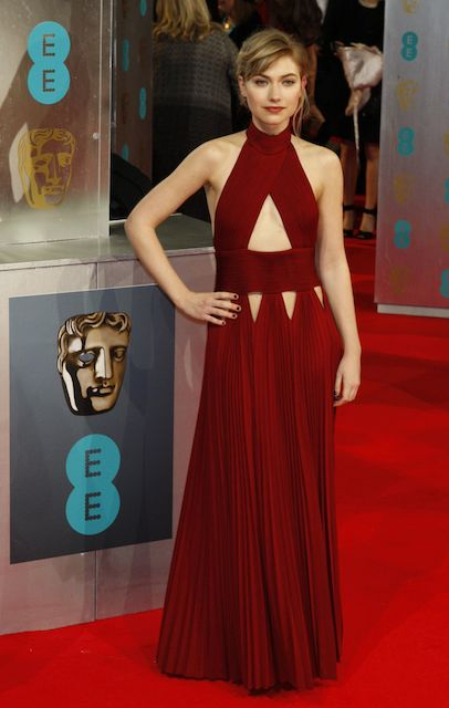 Imogen Poots during 2014 Bafta Awards
