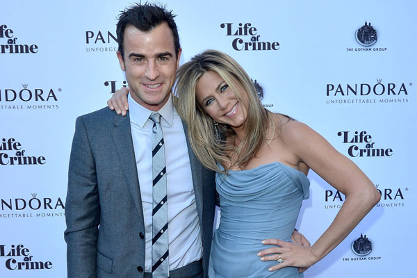 Justin Theroux and his beau Jennifer Aniston