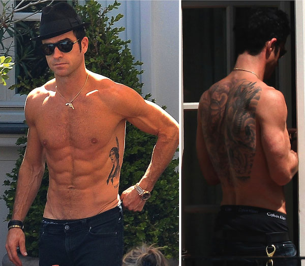 justin theroux tattoos