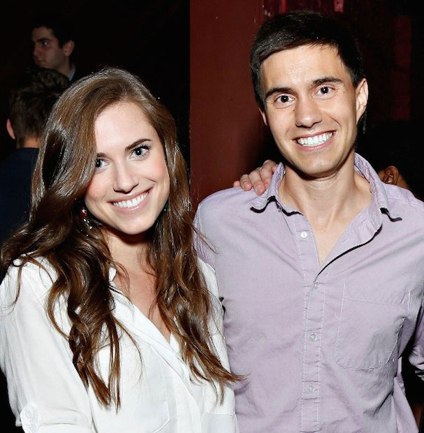 Allison Williams and Ricky Van Veen
