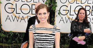 Allison Williams during Golden Globes 2014