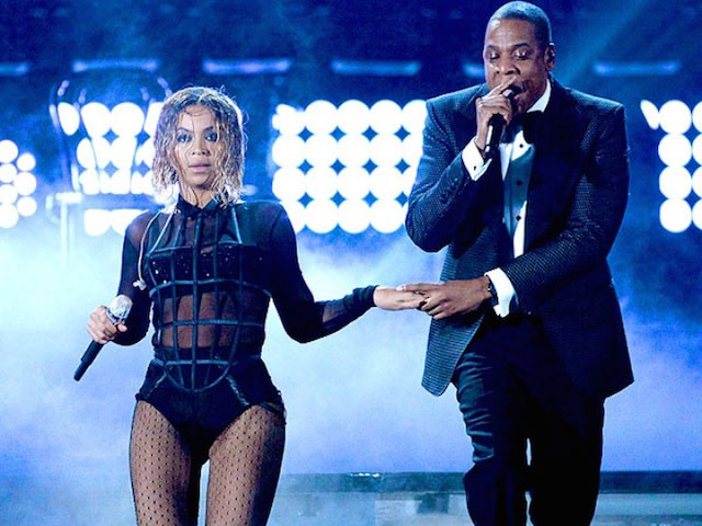 Beyonce Knowles and Jay Z performing at Grammys 2014