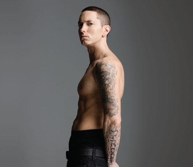 Eminem shirtless