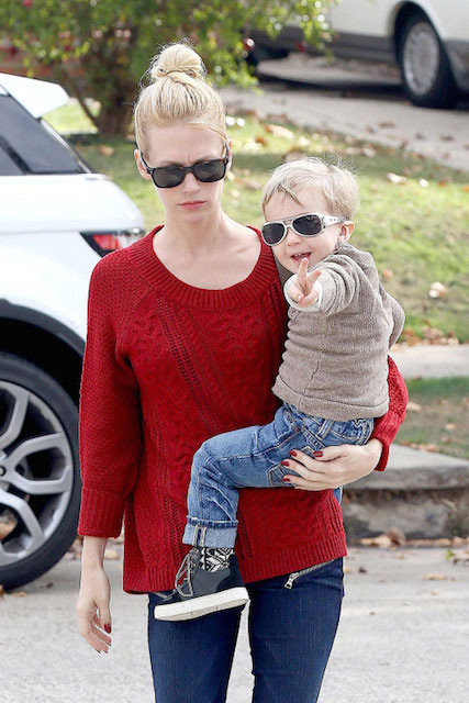 January Jones with her son Xander Dane Jones