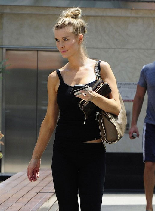 Joanna Krupa leaving the gym in West Hollywood