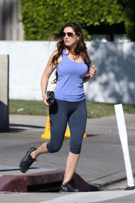 Kelly Brook workout
