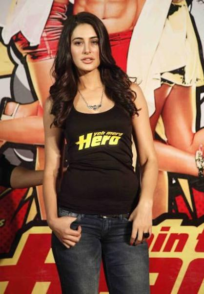 Nargis Fakhri during Main Tera Hero Trailer Launch