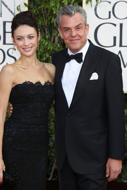 Olga Kurylenko and Danny Huston during 70th Annual Golden Globe Awards