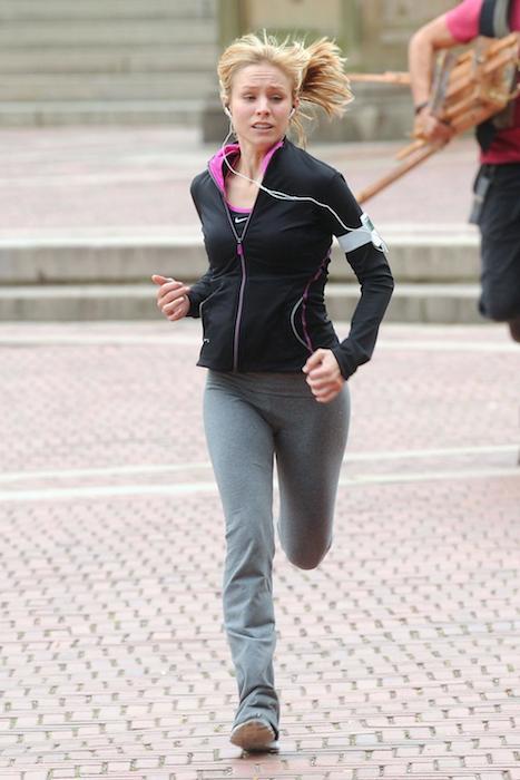 Kristen Bell running workout