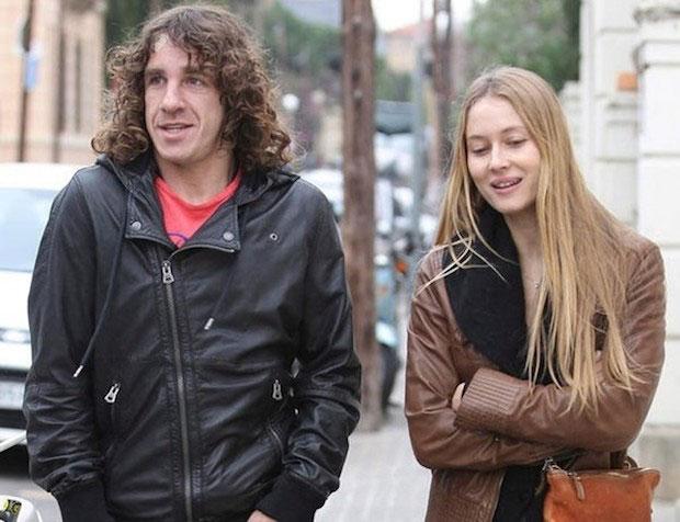 Vanessa Lorenzo and Carles Puyol