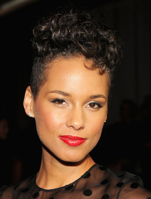 Alicia Keys at Jason Wu Spring 2014 Fashion Show in New York