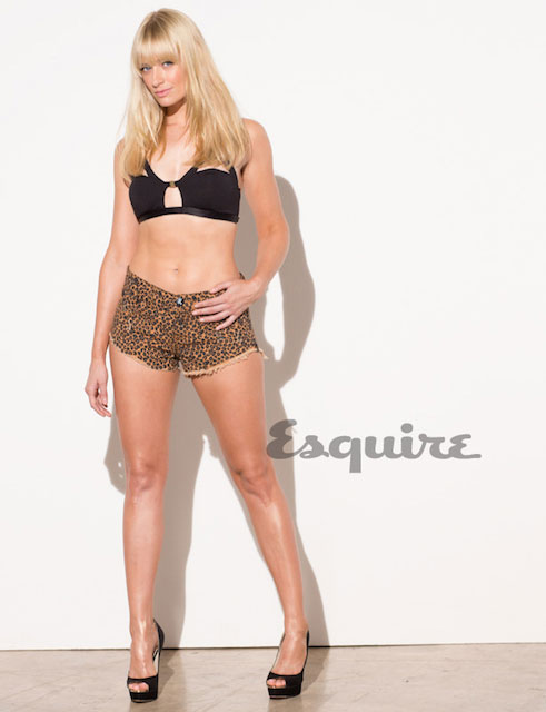 Beth Behrs for Esquire Magazine's February 2014 issue
