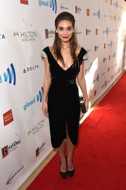 Caitlin Stasey during 25th Annual GLAAD Media Awards in LA 2014