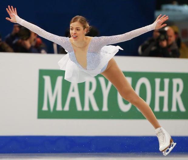 Carolina Kostner skating