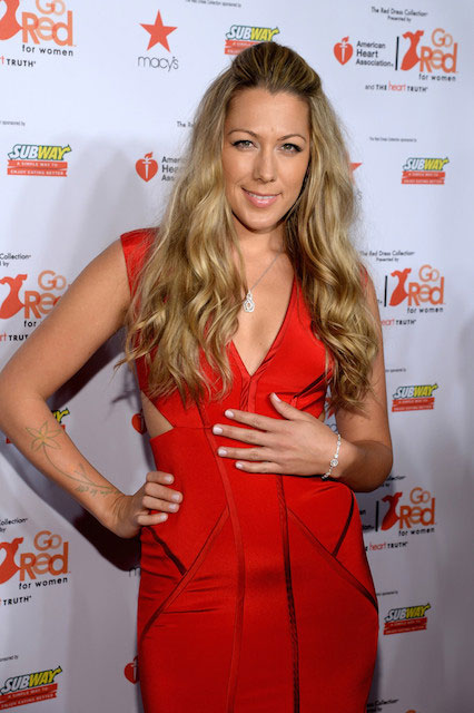 Colbie Caillat in 2014 Red Dress Fashion Show