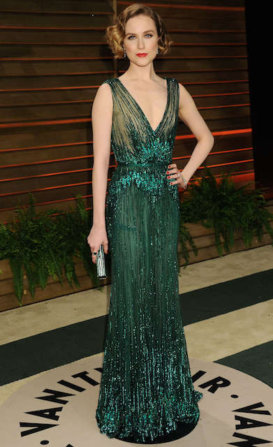 Evan Rachel Wood during Oscars 2014 Vanity Fair Party