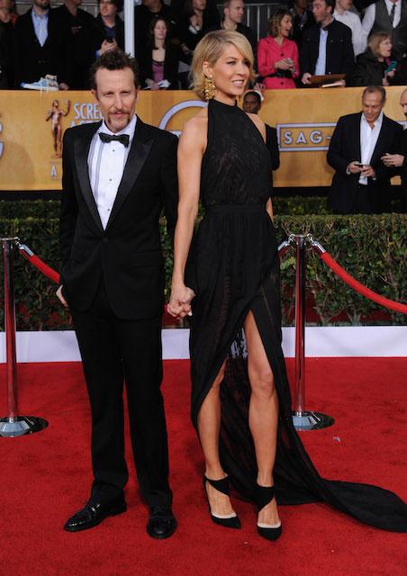 Jenna Elfman and Bodhi Elfman during SAG Awards 2014