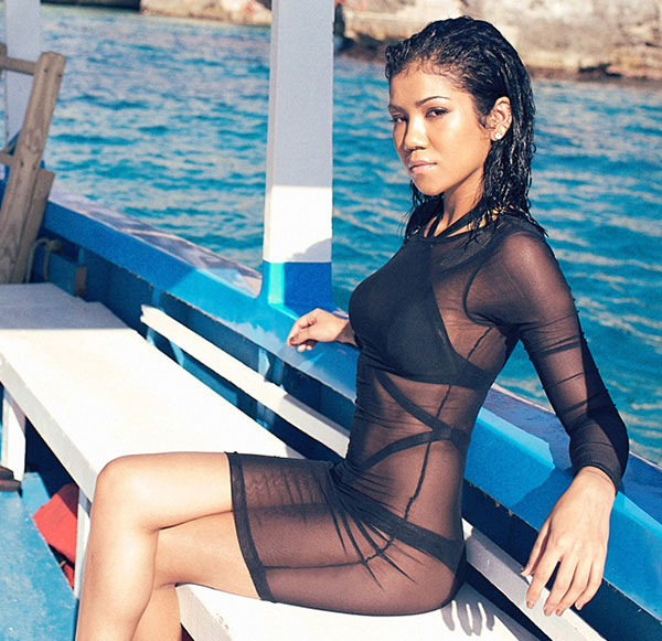 Jhene Aiko in swimsuit