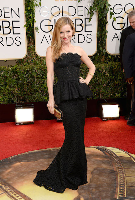 Leslie Mann during Golden Globes 2014