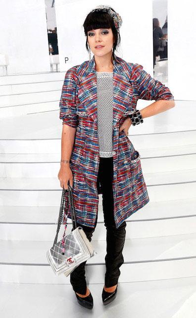 Lily Allen at Paris Fashion Week 2014